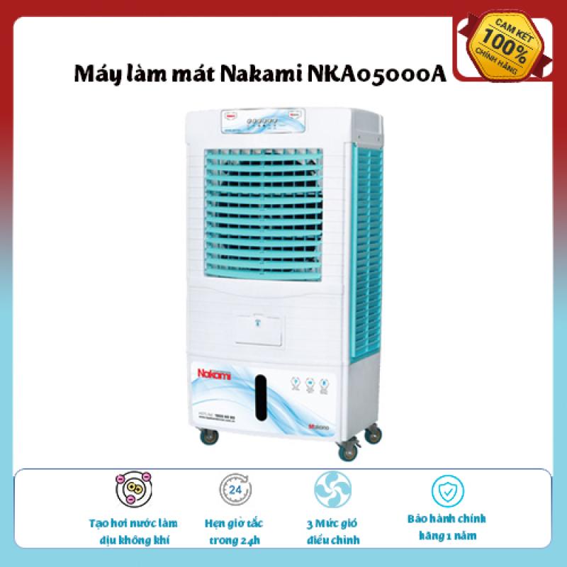 Máy làm mát Nakami NKA05000A-Loại quạt: Quạt điều hòa ,diện tích làm mát 30 – 40 m2., Tạo hơi nước làm dịu không khí,Tốc độ gió: 3 mức, hàng chính hãng chất lượng cáo, giá ưu đãi