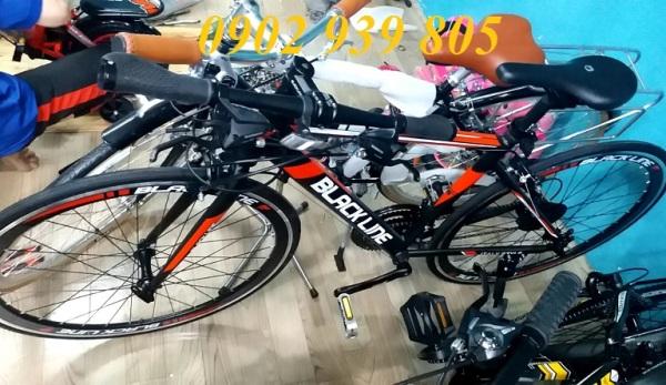 Mua Xe đạp đua 700c bánh nhỏ 11.8 kg BLACK LINE cao cấp khung phuộc hợp kim nhôm bộ đề SHIMANO tay nắm SHIMANO