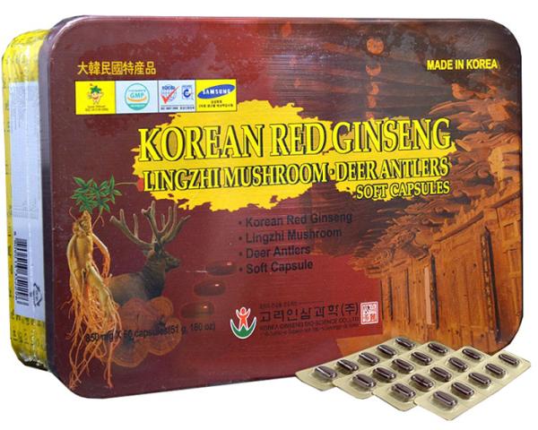 Combo 2 Hộp Viên Đạm Hồng Sâm Linh Chi Nhung Hưu Hàn Quốc Cao Cấp (Hộp 60 Viên) nhập khẩu