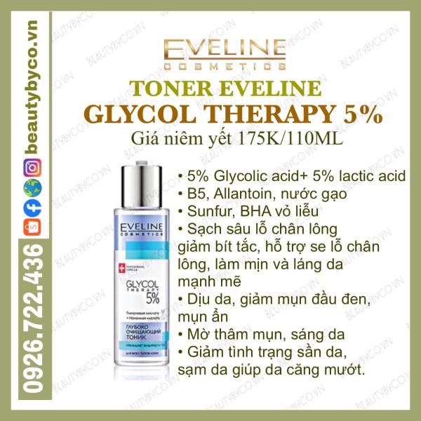 [Mẫu mới nắp trắng] Toner glycolic acid 5% Glycol Therapy cho da căng bóng, láng mướt, mờ thâm mụn
