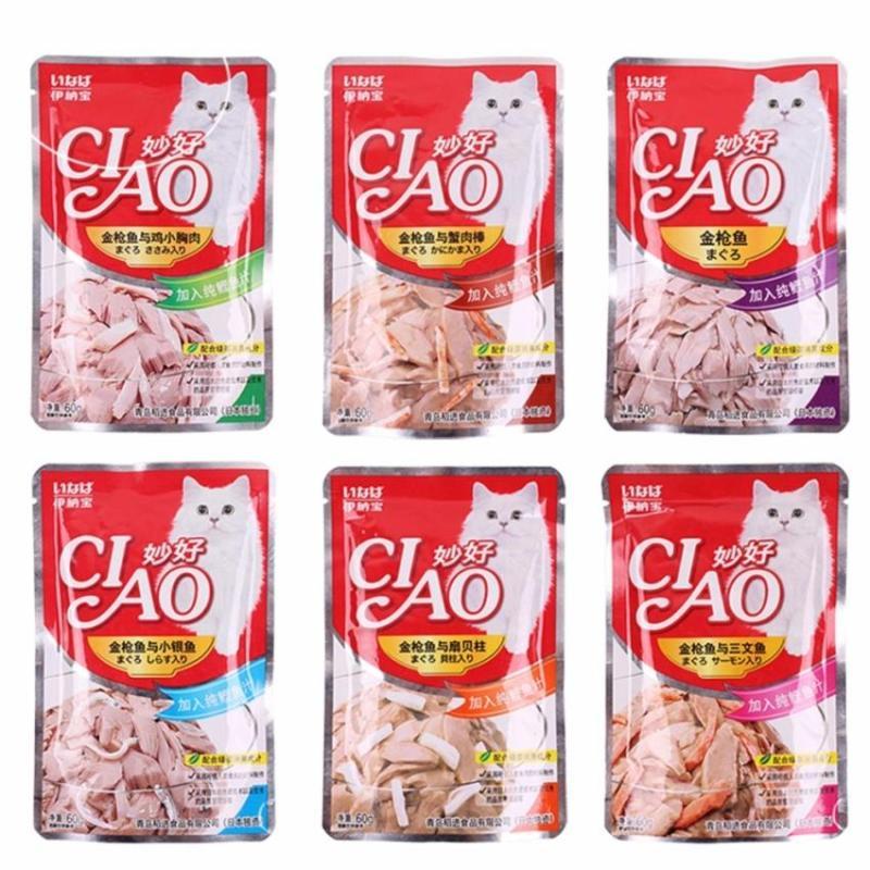Combo 6 hoặc 12 gói Pate CIAO Cho Mèo 60g