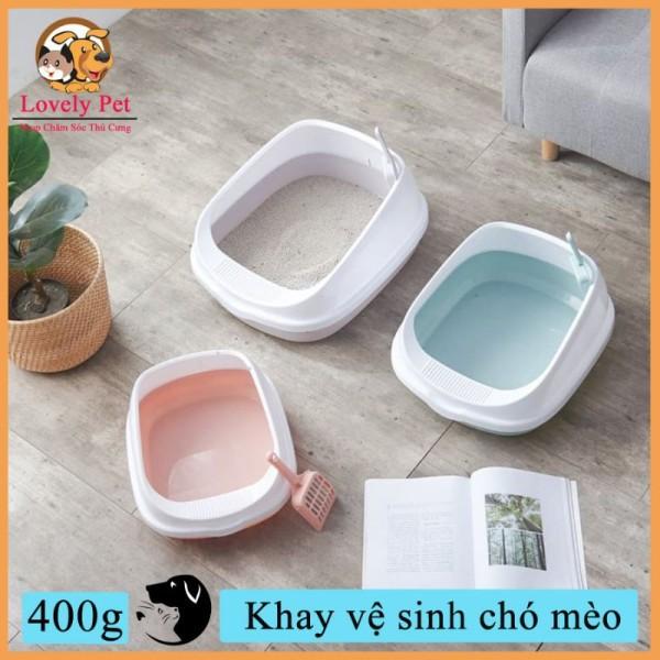 [HCM]Khay vệ sinh cho Mèo loại nhỏtặng kèm xẻng - Khay vệ sinh