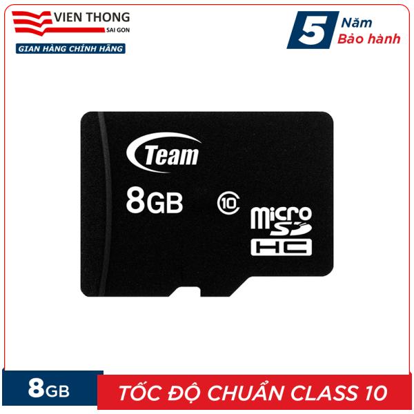 Thẻ nhớ 8GB micro SDHC Team Class 10 - Hãng phân phối chính thức