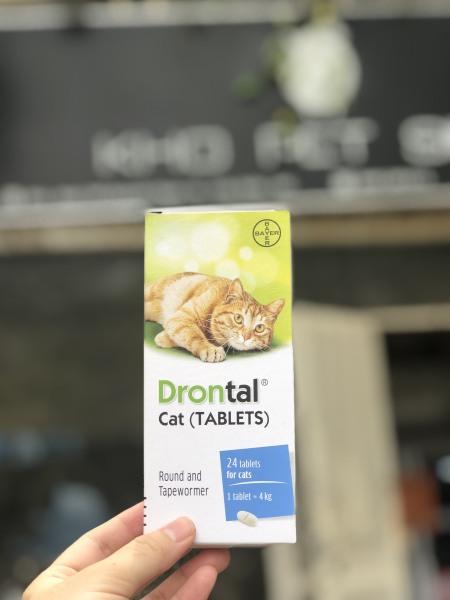 Xổ giun Drontal cho mèo 1v