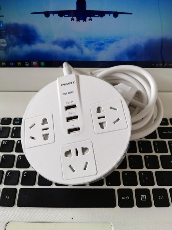 Ổ cắm điện Pisen KY-33(EP) ( 3xAC , 3xUSB )