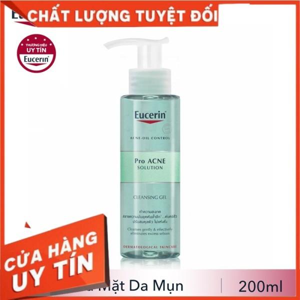 [CHÍNH HÃNG][EUCERIN]Sữa Rửa Mặt Cho Da Dầu Mụn - Pro ACNE Cleansing Gel 200ml Acne Oil Control Proacne
