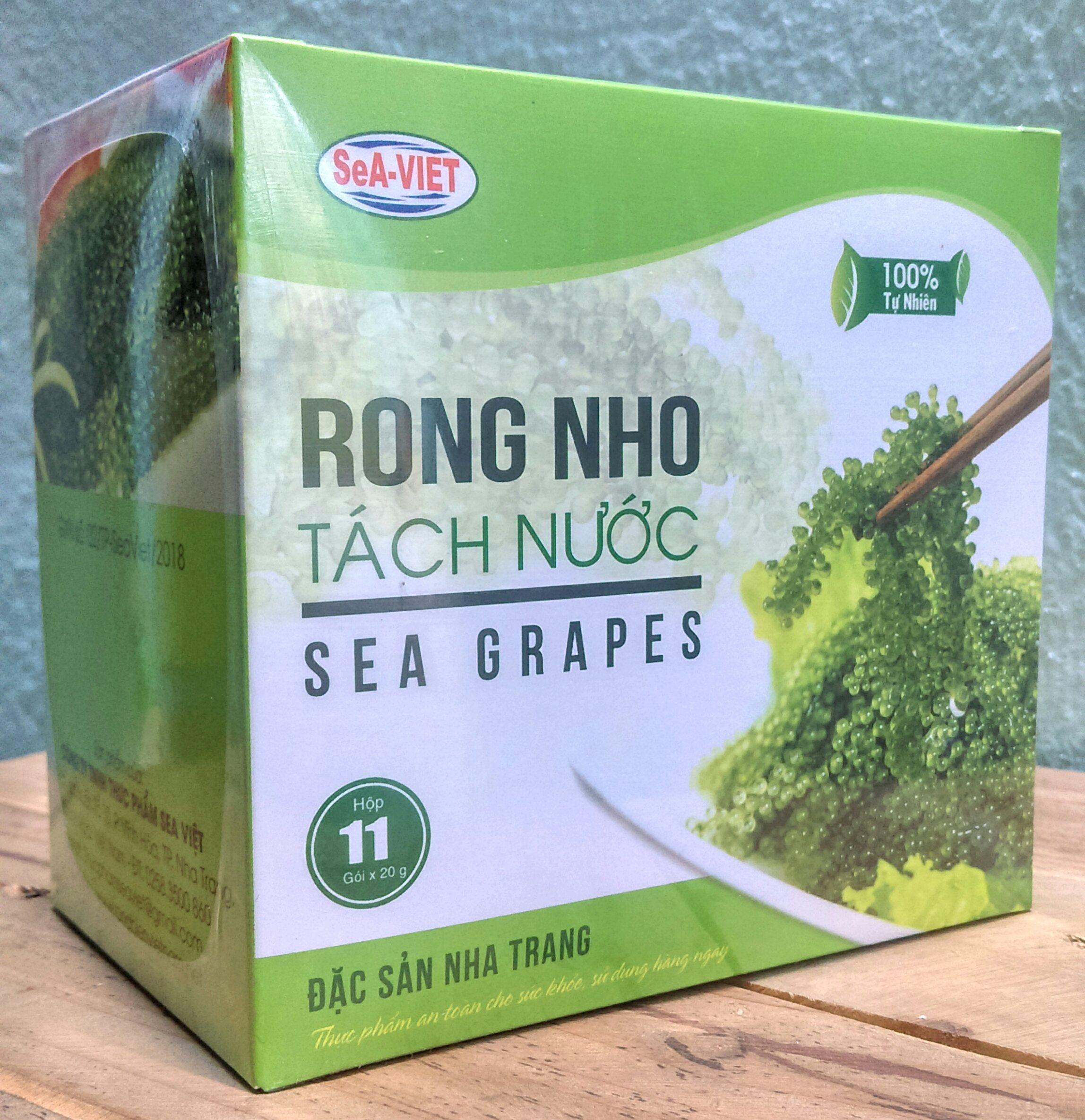 [HCM]Rong nho tách nước Sea Việt hộp 220g (1 hộp gồm 11 gói )