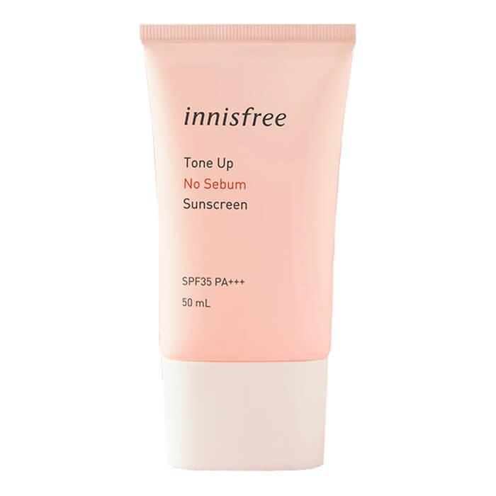 Kem Chống Nắng Kiềm Dầu & Nâng Tông Da Innisfree Tone Up No Sebum Sunscreen SPF35 PA+++ (50ml) chính hãng