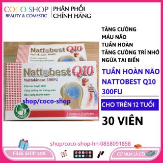 Viên uống dưỡng não Nattobest Q10 giúp bổ não, tăng cường tuần hoàn não, lưu thông mạch máu não,giảm đau đầu, hoa mắt, chóng mặt, mất ngủ- coco shop hn thumbnail
