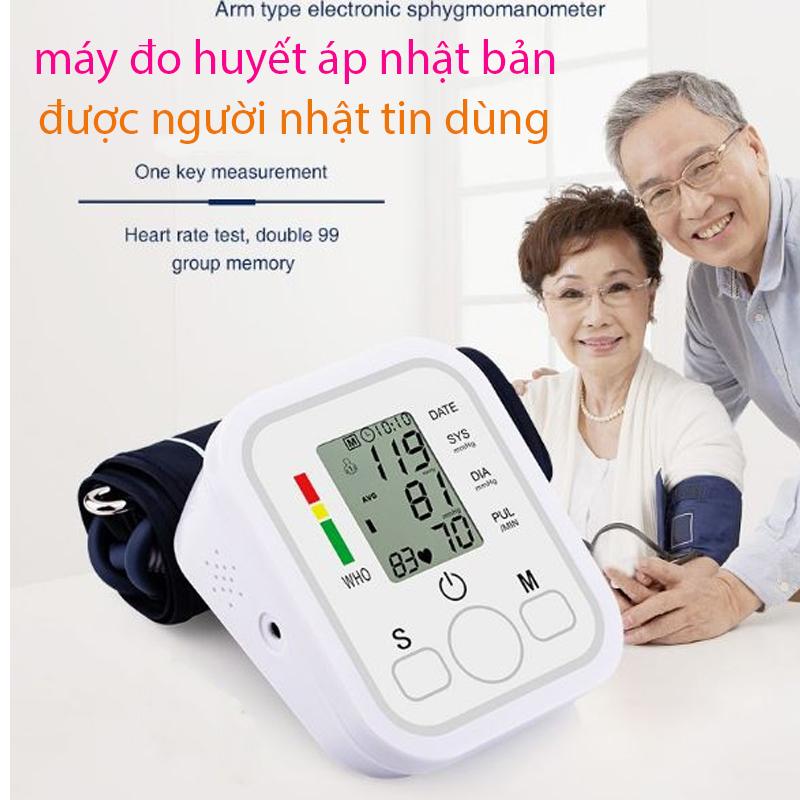 Máy Đo Huyết Áp Nhật Bản Loại Tốt - MÁY ĐO HUYẾT ÁP ARM STYLE - Máy đo huyết áp , nhịp tim tự động chuẩn xác 100% - Tự động bơm và xả thông minh - Dành Cho Người Cao Tuổi - Bảo hành 2 năm
