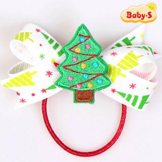 Thun cột tóc Noel phối nơ to họa tiết Giáng sinh đủ màu sắc siêu đáng yêu Baby-S SNOEL010 thumbnail