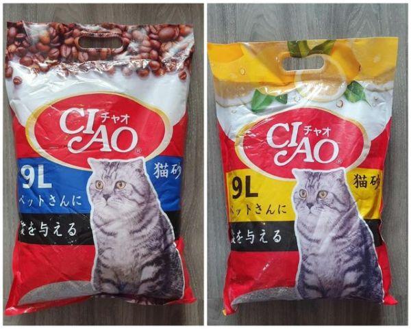Cát vệ sinh cho mèo Ciao-9L Cà Phê và Chanh