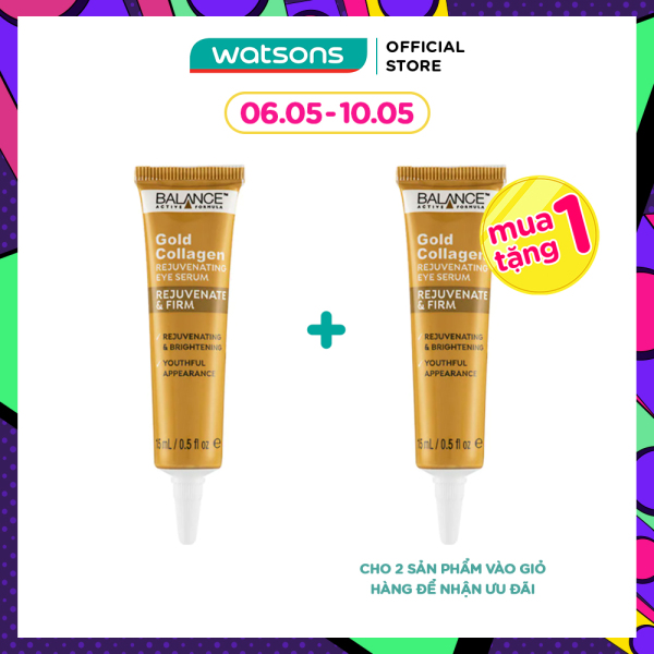 [MUA 1 TẶNG 1] Kem Vàng GiảmThâm Mắt Balance Active Formula Gold Collagen Rejuvenating Eye Serum 15ml