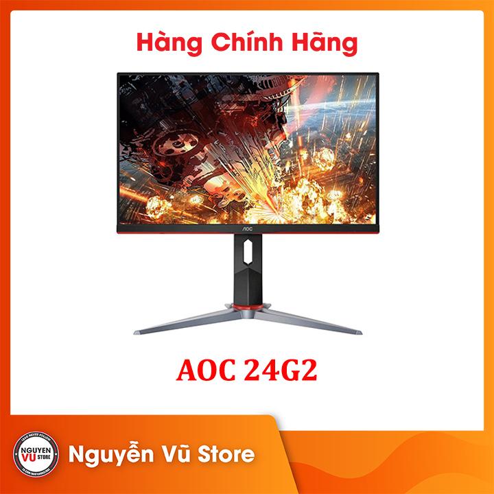 Màn Hình AOC 24G2 (23.8 inch/FHD/IPS/144Hz/1ms/250 nits/HDMI+DP+VGA/FreeSync)