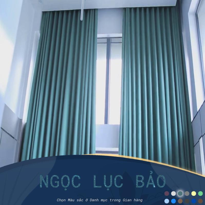 Rèm cửa sổ Minh Tâm cản nắng , cách nhiệt - màu xanh ngọc lục bảo