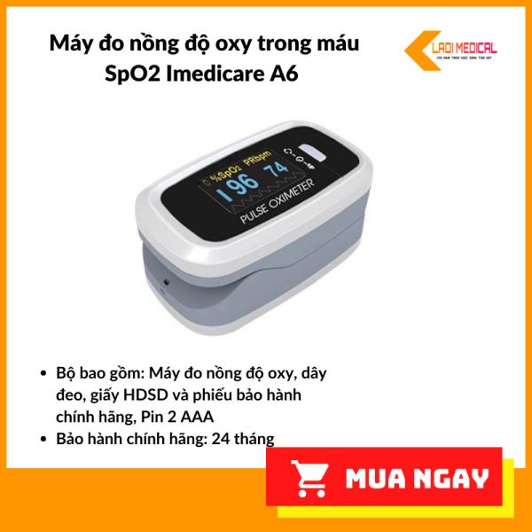 Máy đo nồng độ oxy trong máu (SPO2, PR) iMediCare iOM-A6
