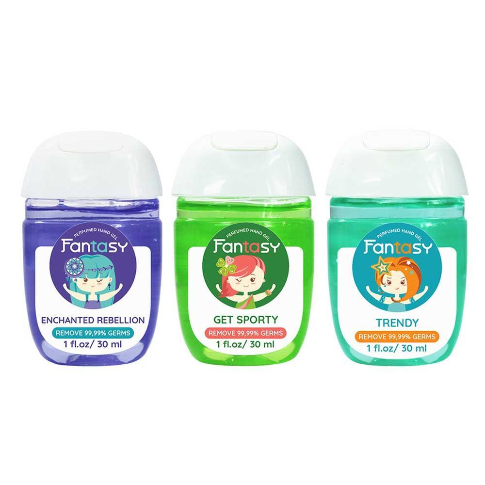 Bộ 3 Gel Rửa Tay Nước Hoa Fantasy diệt khuẩn 99,99% 30ml