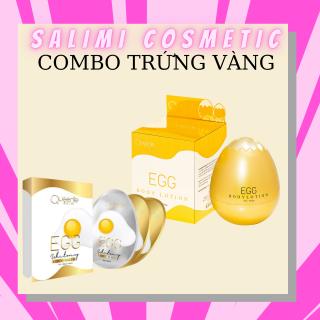 COMBO Trứng Vàng- Kem Body Trứng Vàng + Tắm Trắng Trứng Queenie Skin - Đổi Đen Lấy Trắng (tặng kèm huyết thanh kích trắng) - HÀNG CHÍNH HÃNG thumbnail