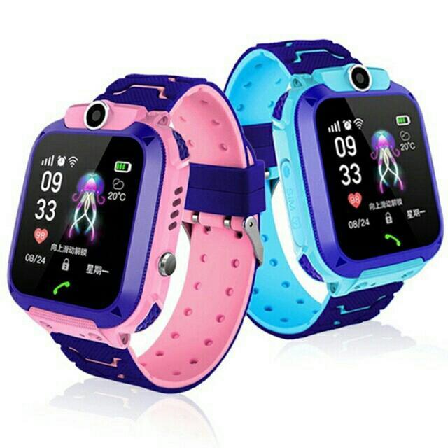 Đồng hồ định vị trẻ em chống nước Q12 có camera tiếng việt(xanh) bán chạy