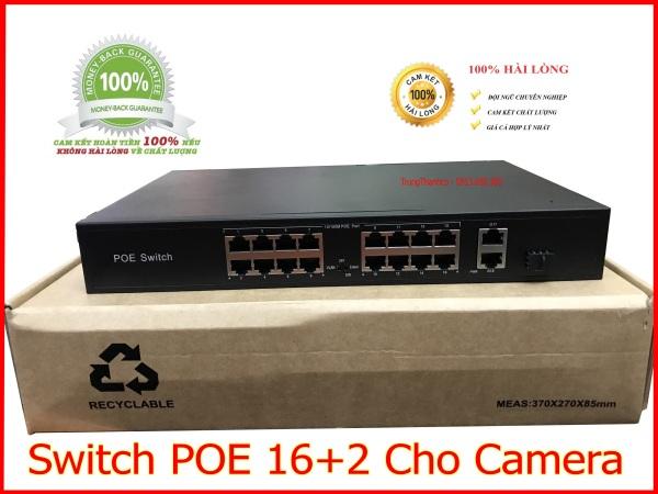 Bảng giá Switch POE 16+2 Cho Camera Phong Vũ