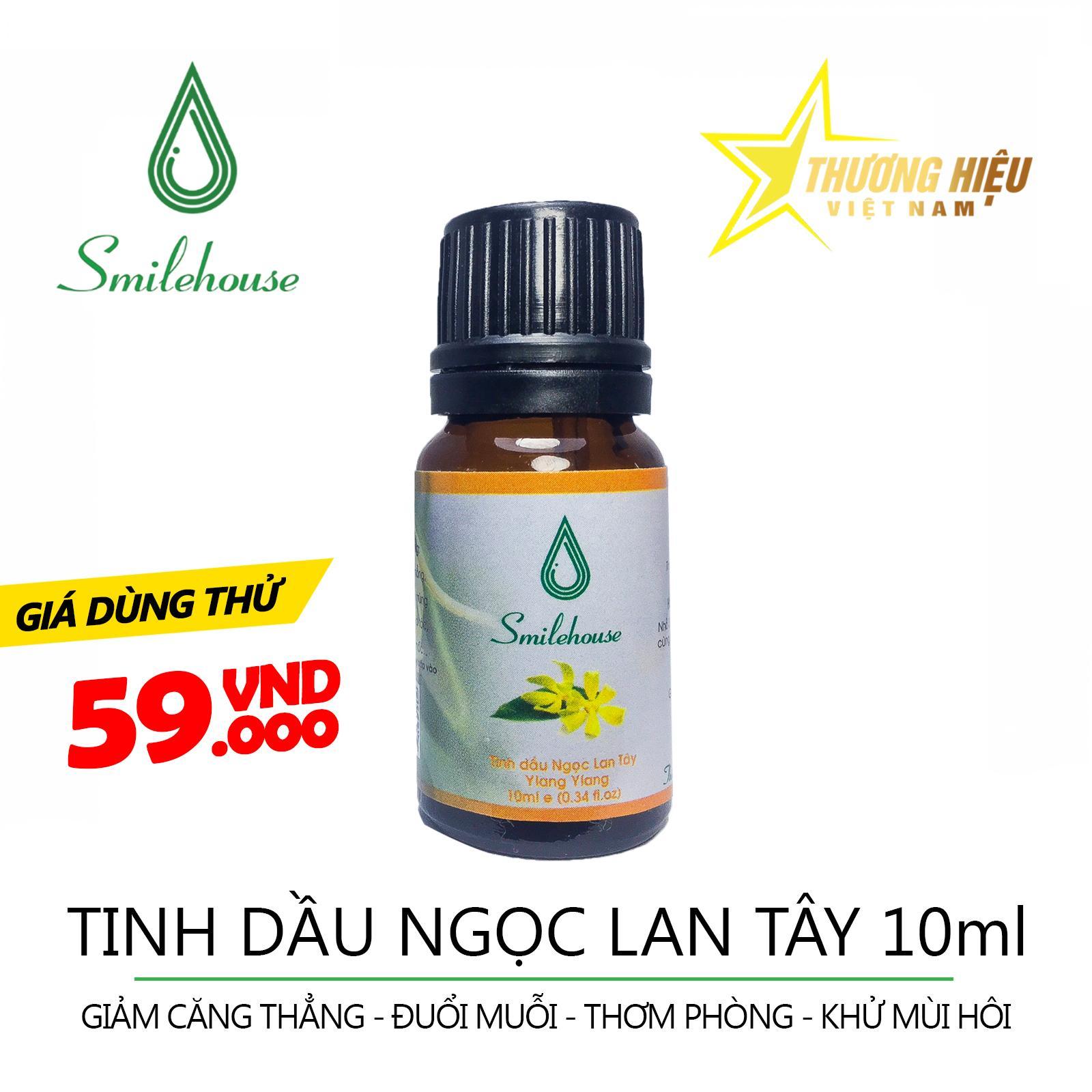 Tinh Dầu Ngọc Lan Tây Smilehouse - 10ml - giảm căng thẳng, thơm phòng, xua đuổi con trùng độc hại, tốt cho sức khỏe TDS