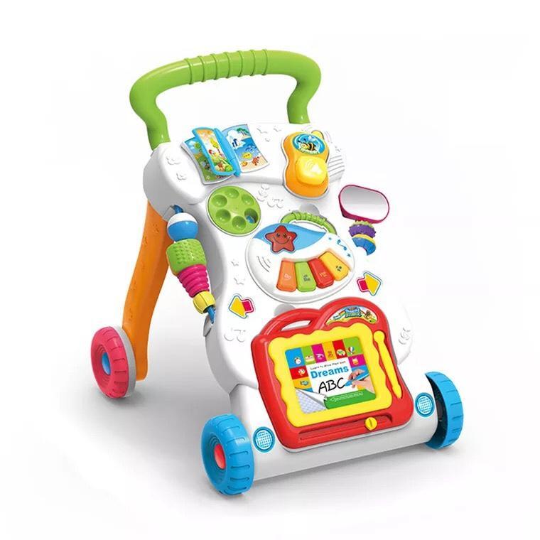 Xe đẩy tập đi đa năng có nhạc kèm đồ chơi Children Music Walker - (BQ338)