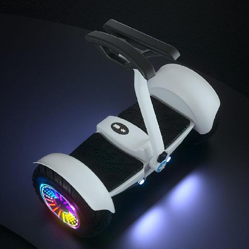 Phân phối Xe điện cân bằng có tay lái, xe cân bằng 2 bánh 10inch, xe điện cân bằng có loa bluetooth nghe nhạc