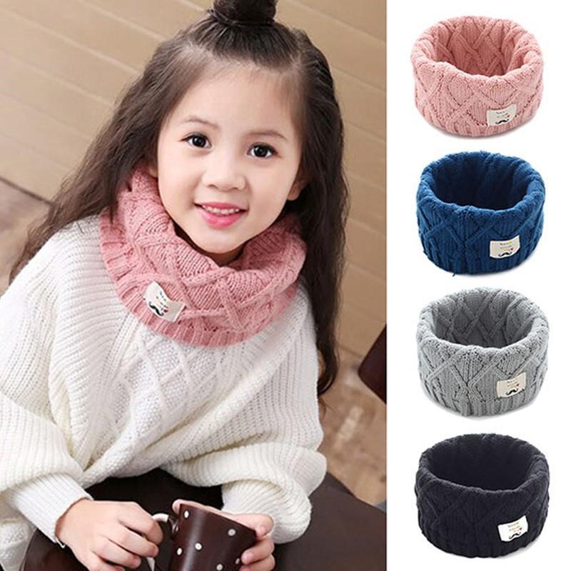 Giá bán Khăn len ống quàng cổ mùa đông cho bé gái chất len dày dặn