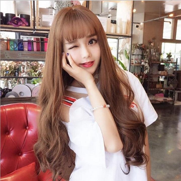 Tóc giả nữ Hàn Quốc + Tặng kèm lưới T177 giá rẻ