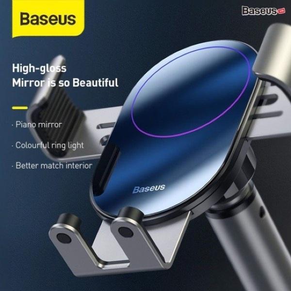 <Luxury> Giá đỡ điện thoại kẹp điện thoại trên xe hơi ôtô - Baseus Simplism Gravity Car Mount - Loại hút chân không gắn kính hay táp lô trên ôtô, sang trọng thể hiện đẳng cấp