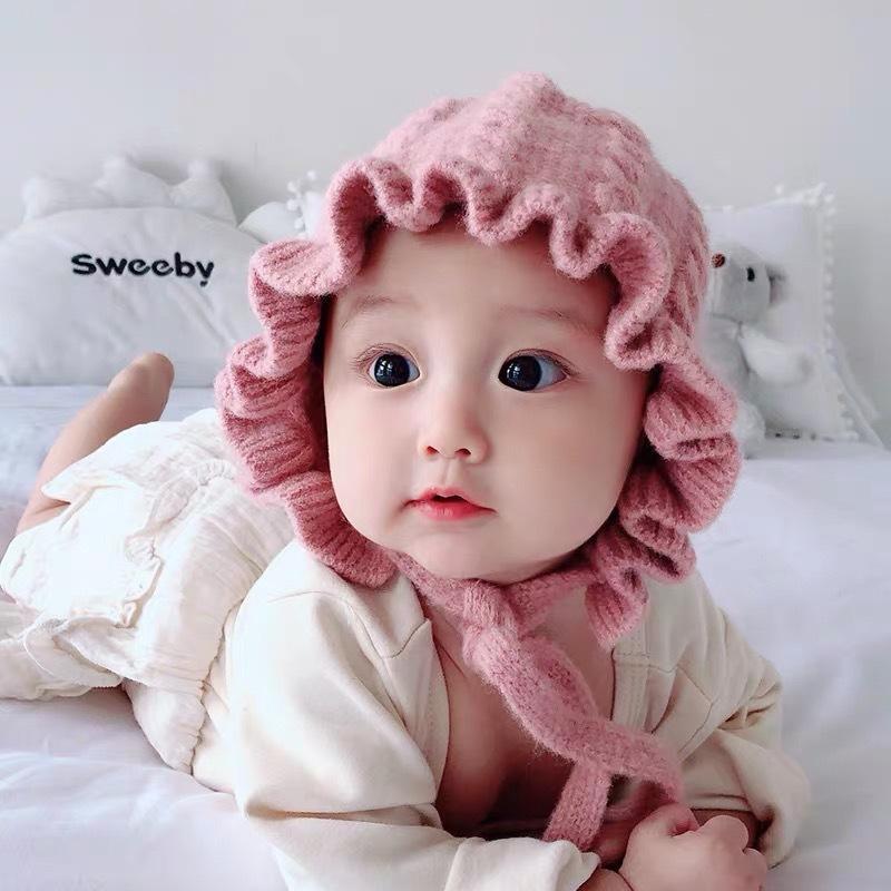 Giá bán Mũ len tai bèo công chúa cho bé siêu xinh