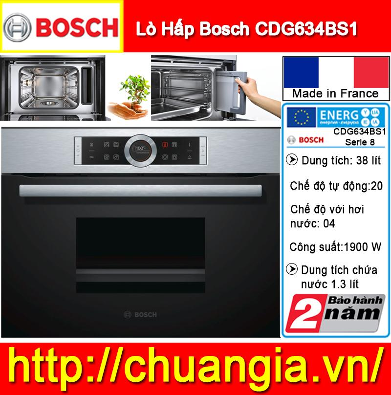 Lò Hấp Âm Tủ Bosch CDG634BS1 Serie 8