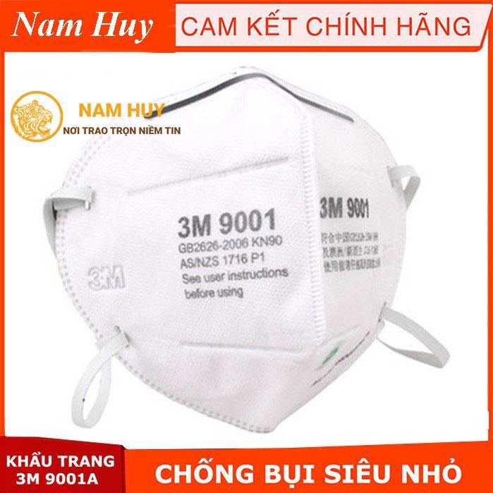 Bộ 50 khẩu trang 3M 9001 chống bụi, khẩu trang PM 2.5 kháng khuẩn siêu vi, ngăn mùi hôi