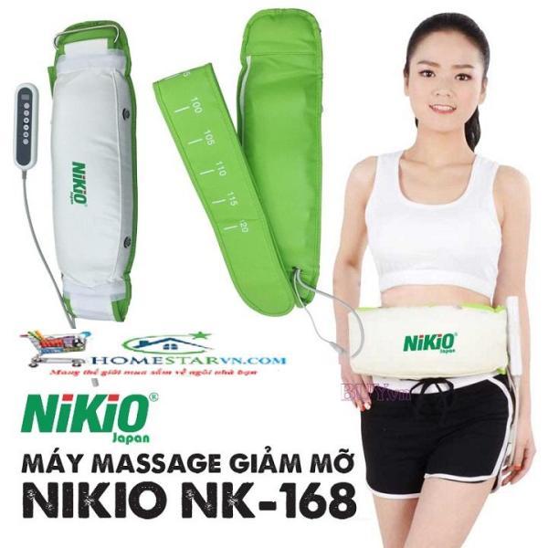 Máy massage giảm mỡ bụng Nhật Bản Nikio NK-168 Rung và Nóng