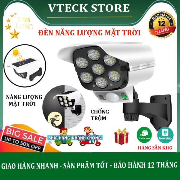 Đèn Năng Lượng mặt Trời Giả Camera Chống Trộm Cảm Ứng Tự Động Bật, Tắt, Có Điều Khiển 3 Chế Độ Sáng,Siêu Sáng