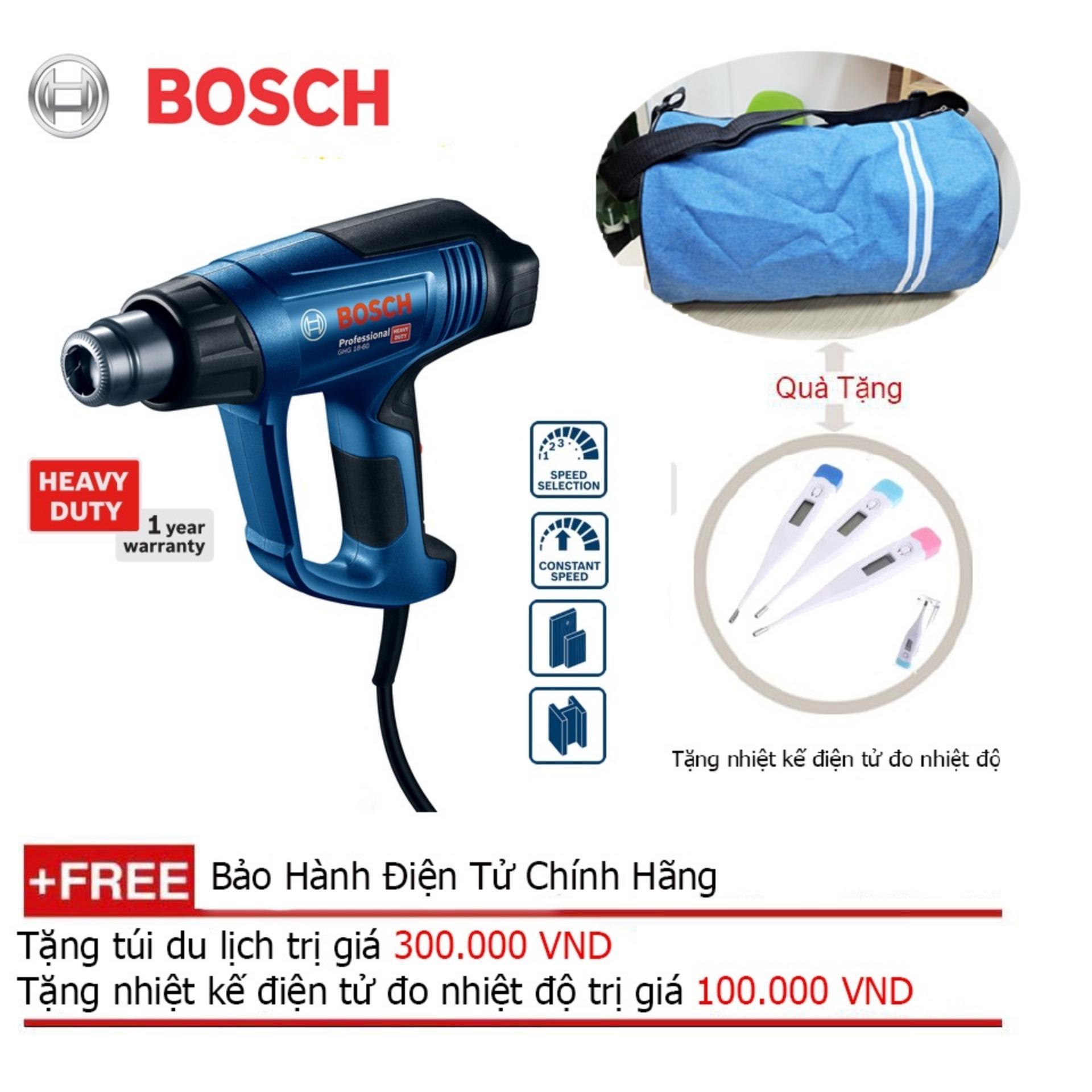 Máy thổi hơi nóng Bosch GHG 18-60 + Quà tặng balo du lịch