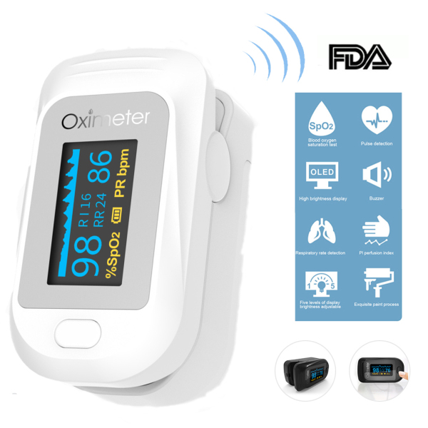 Loyyer【100% Original】Omron Oximeters Portable Monitor Finger Pulse Oximeters Blood Oxygen Monitor Fingertip Rate H2 Omron Finger Clip Blood Oxygen Monitor Built-in PI Respiratory Rate Heart Rate Meter【High Quality】