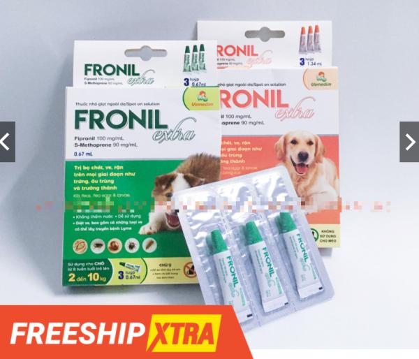 Nhỏ Gáy Ve Bọ Chét Cho Chó Fronil Extra ĐỦ CÁC LOẠI KÍ