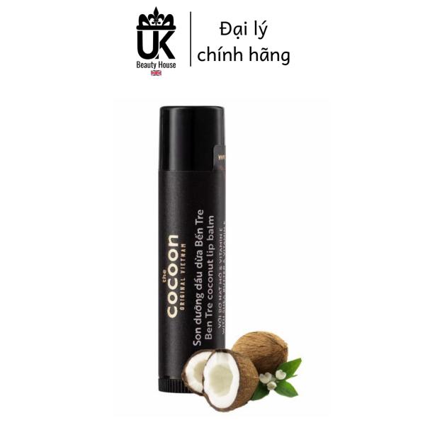 [HCM]Son dưỡng môi dầu dừa bến tre Cocoon Coconut Lip Balm 5g cao cấp