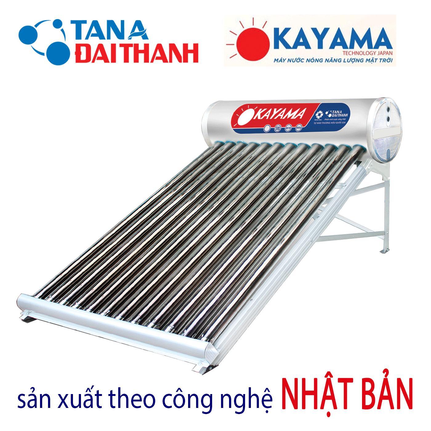 Tân Á Đại Thành - Máy nước nóng năng lượng mặt trời Okayama 130lit