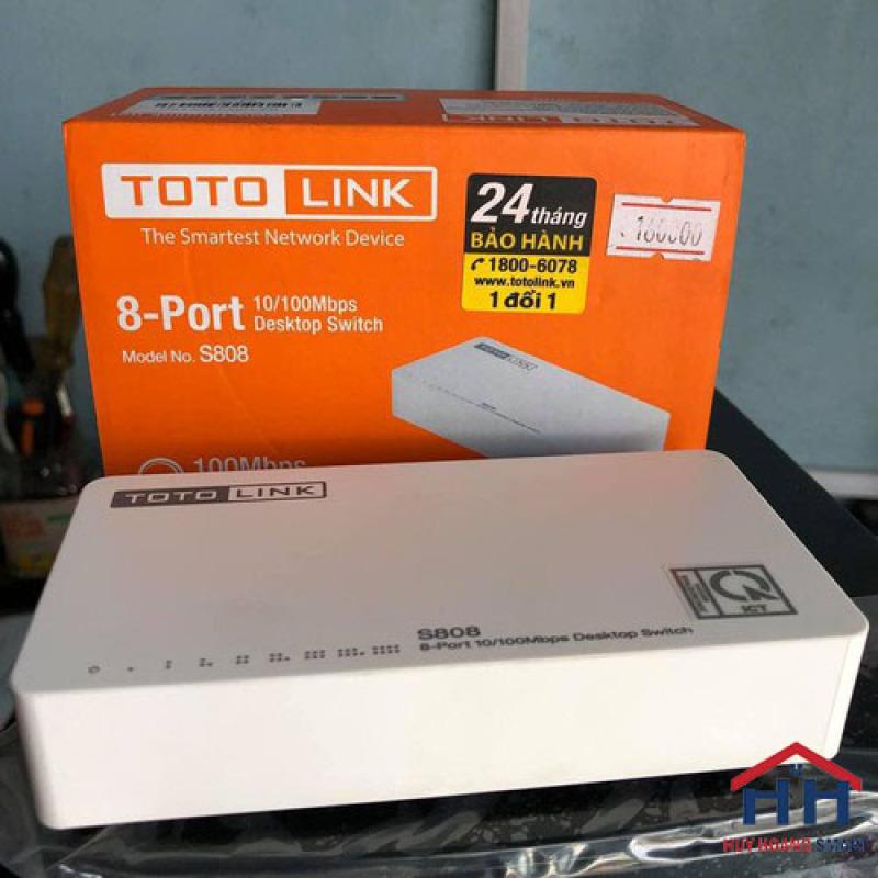 Bảng giá Bộ chia mạng Totolink S808 - Switch 8 cổng 10/100Mbps - Hàng chính hãng ( Bảo Hành 24T  ) Phong Vũ