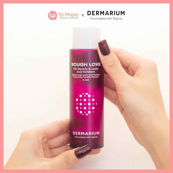 Nước Hoa Hồng Dermarium Rough Love 8% Glycolic & Lactic Acid 150ml