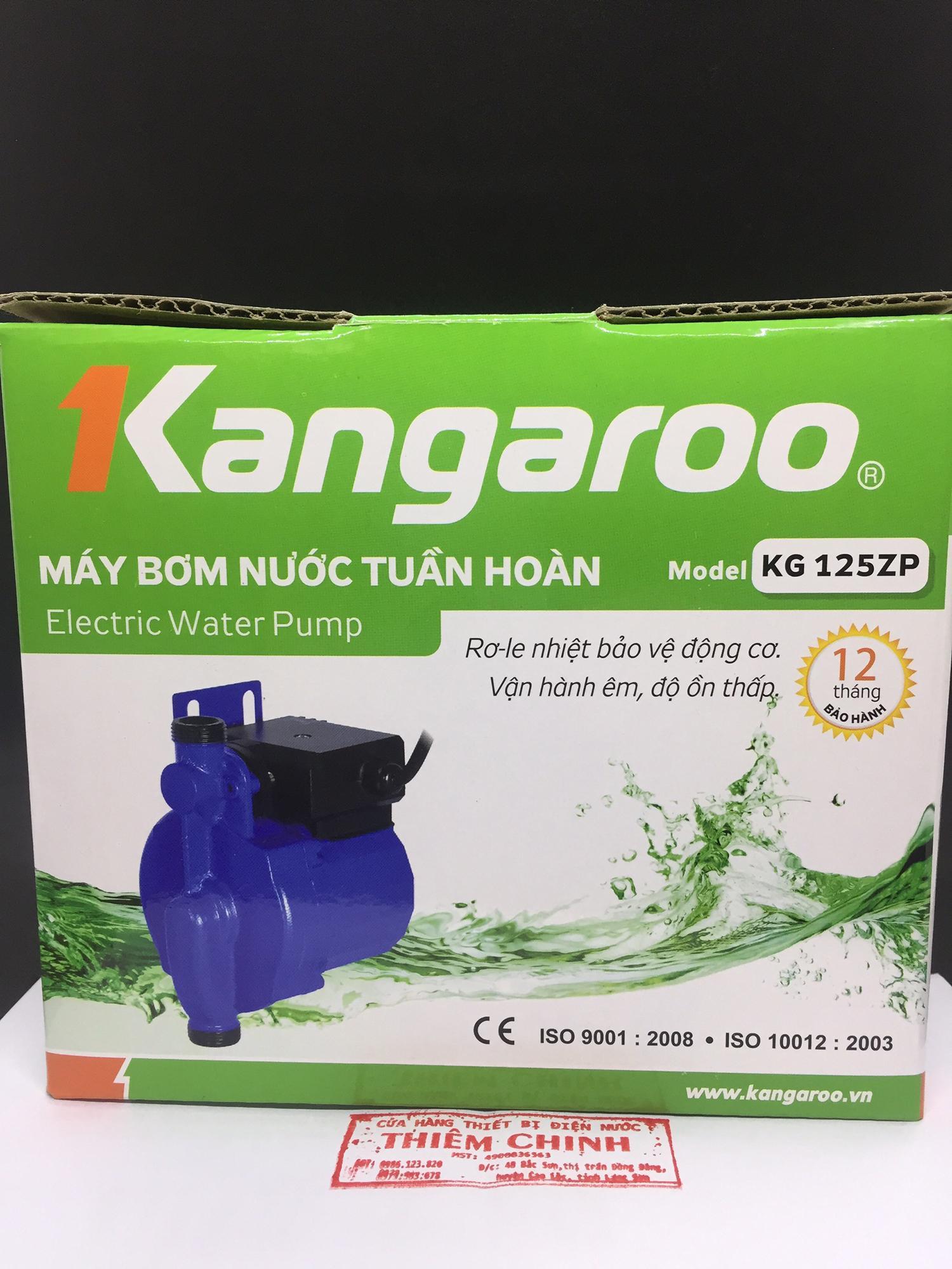 Máy bơm trợ lực nước yếu - Máy bơm nước tuần hoàn Kangaroo KG125ZP | Tự động tăng áp - Dùng cho sen vòi, máy giặt