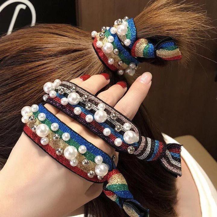 Giá bán [Nguyen Dung Fashion] Dây buộc tóc đính đá MS09-MS998