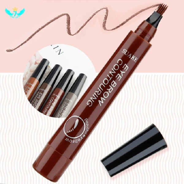 4 points eyebrow pencil, eyebrow tattoo pencil, liquid eyebrow pencil with four tips, 5 colors Durable waterproof smudge-proof eyebrow pencil YIDA