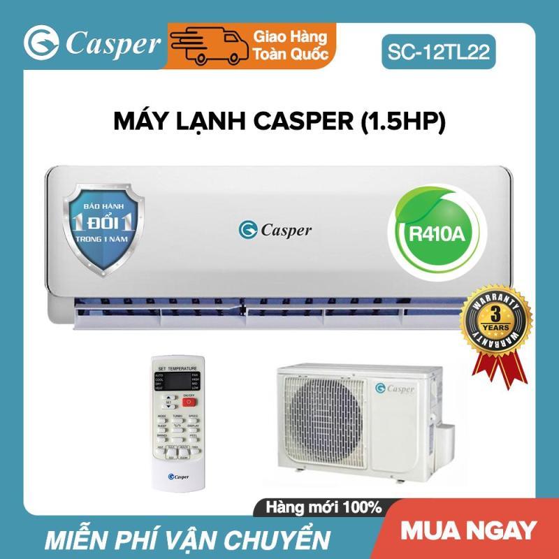 Máy Lạnh Casper 1.5HP - Model EC-12TL22 (Trắng) Đổi mới 1 năm - Bảo Hành 3 Năm