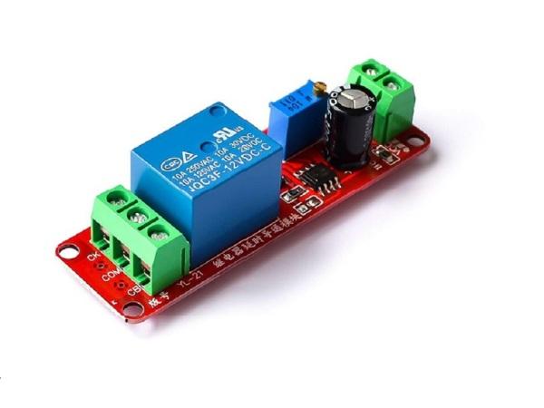 Mạch tạo thời gian trễ ngắt relay NE555 12V DC