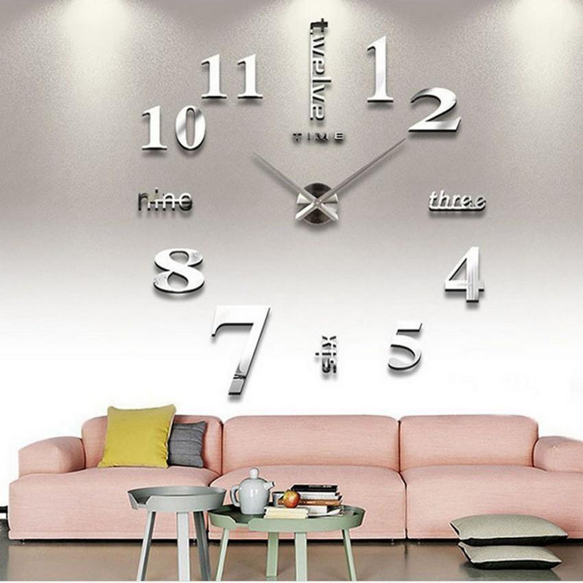 Đồng hồ trang trí treo tường loại lớn - gắn tường sáng tạo 3D giá tốt