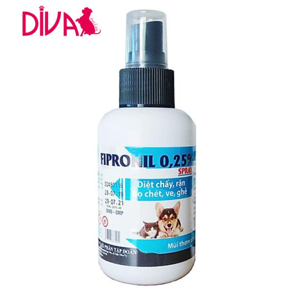 Diệt chấy rận ve ghẻ chó mèo - Fipronil 100ml