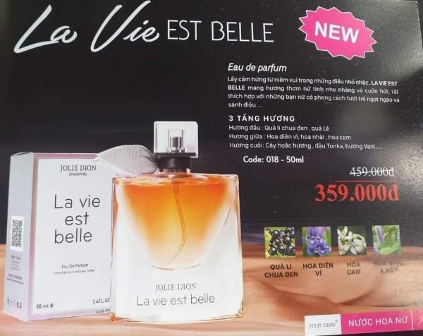 La Vie Est Belle 50ml . hàng nhập khẩu sàn xuất Philipine.. 3 tầng hương ,thời gian lưu hương 12 tiếng. miễn phí vận chuyển khi mua hàng.